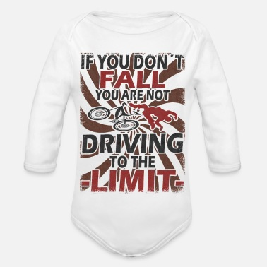 Hobbies Fall bike cyclist sport saying - Organic Long-Sleeved Baby Bodysuit