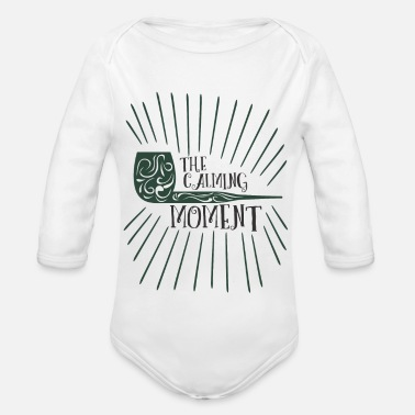 Tobacco Pipe Relaxation smoking pipe tobacco tobacco pipe idea - Organic Long-Sleeved Baby Bodysuit