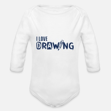 Painting To paint - Organic Long-Sleeved Baby Bodysuit