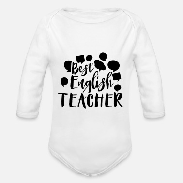 Teaching teaching - Organic Long-Sleeved Baby Bodysuit