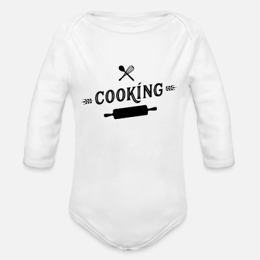 Cook Cooking cook - Organic Long-Sleeved Baby Bodysuit