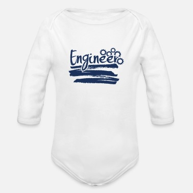 Engine Engineer engineer engineer engineer - Organic Long-Sleeved Baby Bodysuit