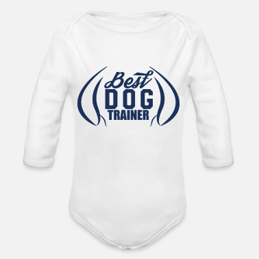 Dog dog trainer - Organic Long-Sleeved Baby Bodysuit