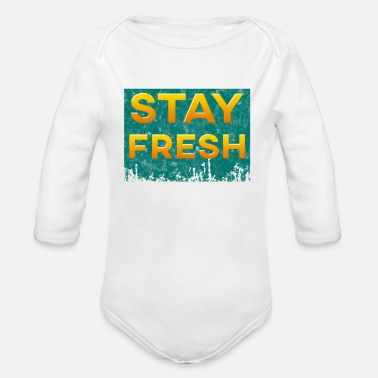 Stay Fresh Stay Fresh - Organic Long-Sleeved Baby Bodysuit