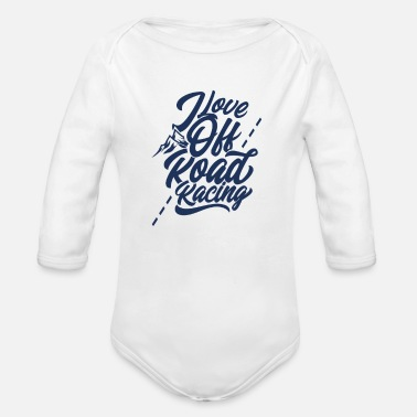 Terrain Terrain race - Organic Long-Sleeved Baby Bodysuit