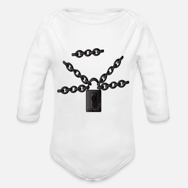 Chain Chains Chain links Steel chains Metal chains - Organic Long-Sleeved Baby Bodysuit