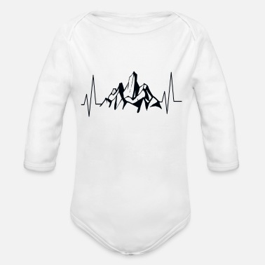Mountain Sports Mountain sports - Organic Long-Sleeved Baby Bodysuit