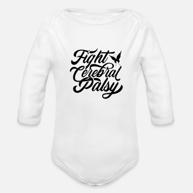 Infantile Cerebral Palsy Fight cerebral palsy - Organic Long-Sleeved Baby Bodysuit