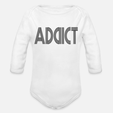 Swag Addicting addict luck bad luck cool swag style styling - Organic Long-Sleeved Baby Bodysuit
