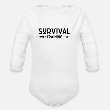 Idea Survive Bushcraft Wilderness Survival Prepper - Organic Long-Sleeved Baby Bodysuit