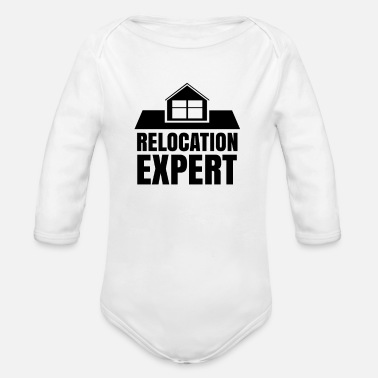 Move Moving Expert Moving Company Moving Moving - Organic Long-Sleeved Baby Bodysuit