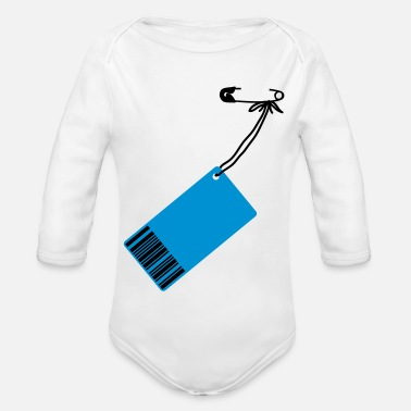 Price-to-pay Price-tag - Organic Long-Sleeved Baby Bodysuit