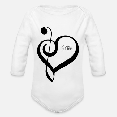 Music Is Life Music is life ! - Body Bébé bio manches longues