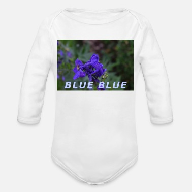 Blue BLUE BLUE - Organic Long-Sleeved Baby Bodysuit