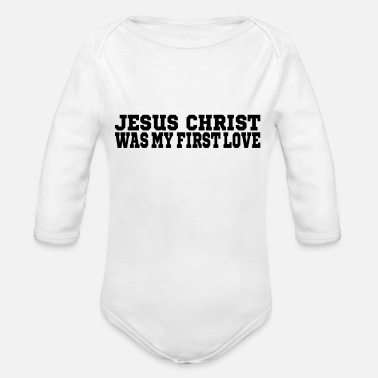 Jesus Christ loves - Organic Long-Sleeved Baby Bodysuit