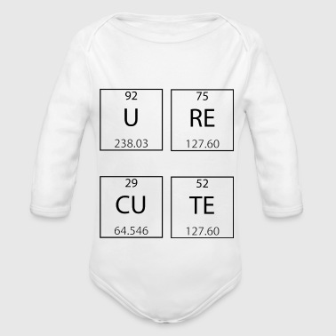 Periodic Table - Organic Longsleeve Baby Bodysuit