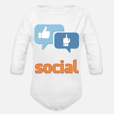 Social social - Organic Long-Sleeved Baby Bodysuit