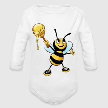 honey bee - Organic Longsleeve Baby Bodysuit