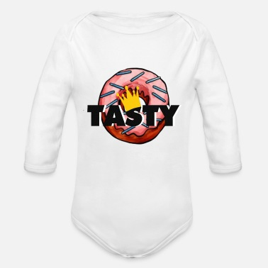 Tasty donut - Organic Long-Sleeved Baby Bodysuit