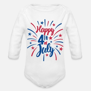 Day Independence Day 4 juli Independence Day America - Ekologisk långärmad babybody