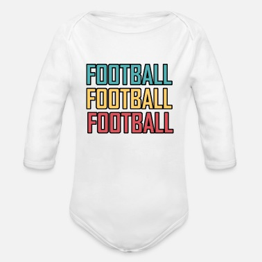 Footballers Football Football Football - Organic Long-Sleeved Baby Bodysuit