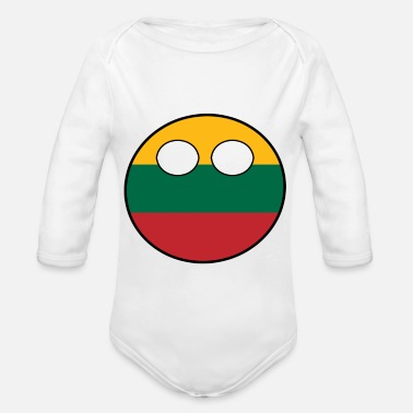 Country Countryball Country Home Lithuania - Organic Long-Sleeved Baby Bodysuit