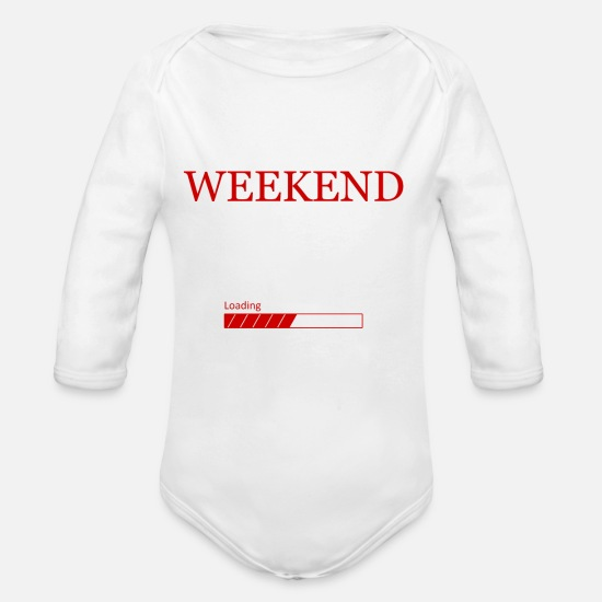 Celebrate Baby Clothes - weekend - Organic Long-Sleeved Baby Bodysuit white