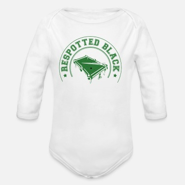 Snooker Respotted Black - Organic Long-Sleeved Baby Bodysuit