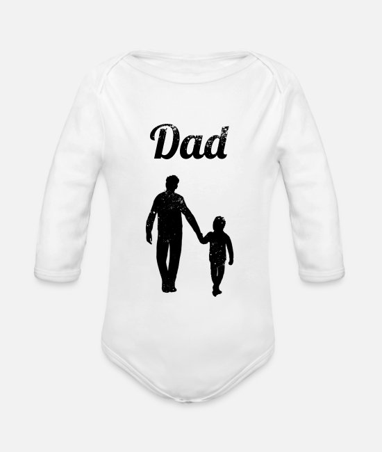 Daddy Of The Year Baby Bodys - Dad - Baby Bio Langarmbody Weiß