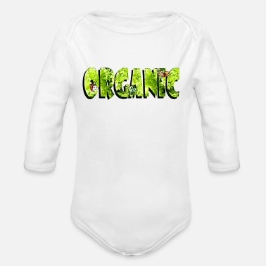 Stay Fresh Garden Organic Vegetarian Vegan Comic style - Organic Long-Sleeved Baby Bodysuit