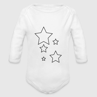 Star fashion star star - Organic Longsleeve Baby Bodysuit