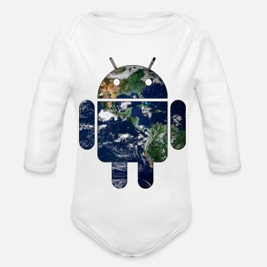 Android Android - Organic Long-Sleeved Baby Bodysuit