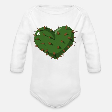 Heartache Heart // Cactus // Love // Heartache - Organic Long-Sleeved Baby Bodysuit