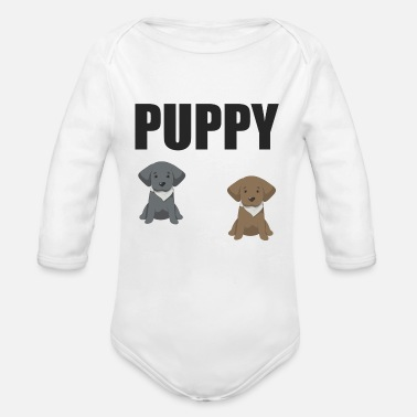 Puppy puppies - Organic Long-Sleeved Baby Bodysuit