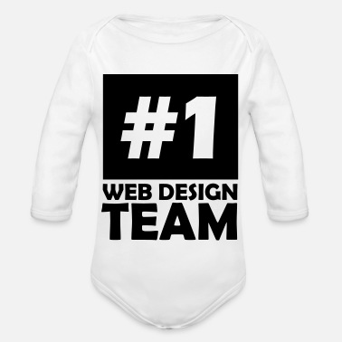 number one web design team - Organic Long-Sleeved Baby Bodysuit