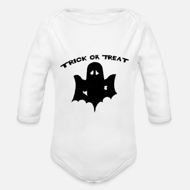 Trick Or Treat trick or treat Trick or Treat Halloween - Organic Long-Sleeved Baby Bodysuit