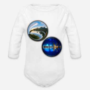 In bullets day and night - Organic Long-Sleeved Baby Bodysuit
