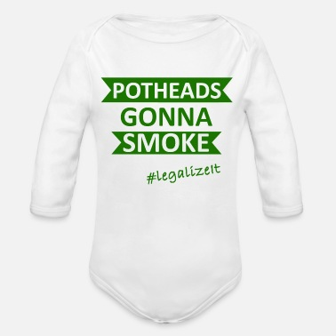 Pothead Potheads Smoke Legalize It - Organic Long-Sleeved Baby Bodysuit
