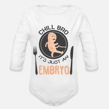 Provocation Black humor provocative - Organic Longsleeve Baby Bodysuit
