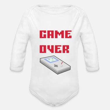 Game Over Game over - Organic Long-Sleeved Baby Bodysuit