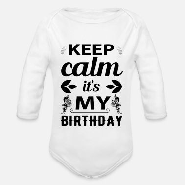 Birthday Greeting Birthday greeting Congratulations - Organic Long-Sleeved Baby Bodysuit