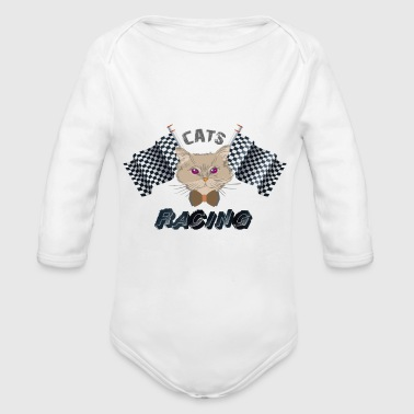 Cats Racing - Speed - Cat Racing - Body ecologico per neonato a manica lunga