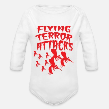 Blood Suckers Mosquito flying terror stinging blood sucker saying - Organic Long-Sleeved Baby Bodysuit