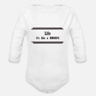 Role Playing Game It's like a massive multiplayer role play game - Organic Longsleeve Baby Bodysuit