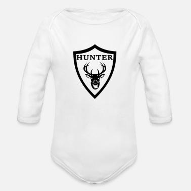 Cazador Cazador cazando ciervo asta - Body de manga larga bebé 18a240bdb1a