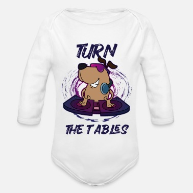 Turn Table DJ Turn the Tables - Organic Long-Sleeved Baby Bodysuit