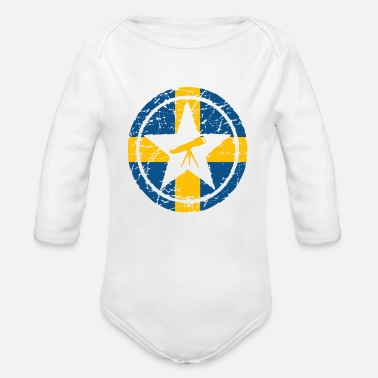 Swedish Girlfriend astronomy astronomy astronomer sweden swedish - Organic Long-Sleeved Baby Bodysuit