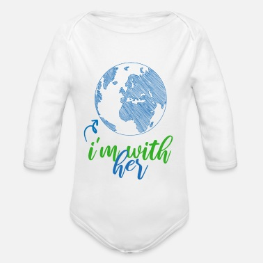 Herring WITH WITH HER - Organic Long-Sleeved Baby Bodysuit