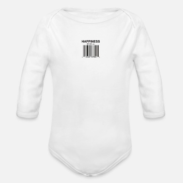 Happy Cheerful Happiness Barcode - Organic Long-Sleeved Baby Bodysuit