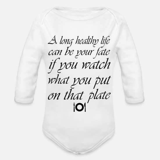 Love Baby Clothes - Sustainability Healthy - Organic Long-Sleeved Baby Bodysuit white